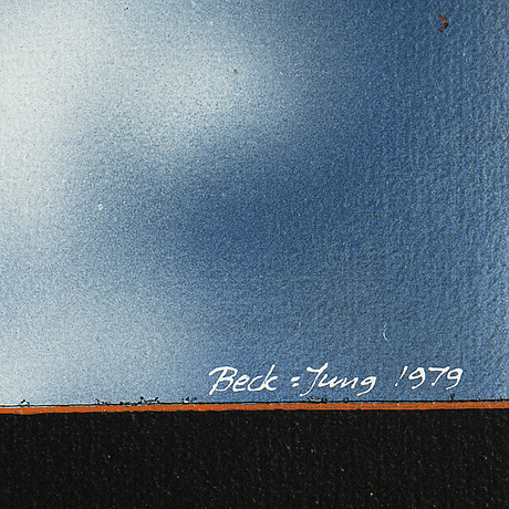 Beck & jung, oil on canvas, signed and dated 1979.