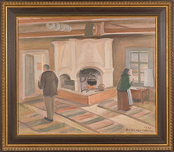 Eero Nelimarkka, oil on canvas, signed and dated 1975.