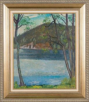 Anton Lindforss, oil on canvas, signed.