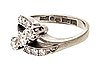 Ring 18k whitegold old, brilliant and single-cut diamonds approx 0,70 ct in total, total weight 6,1 g.