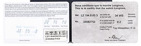 Longines, bellarti, rannekello, 19 x 27 mm.