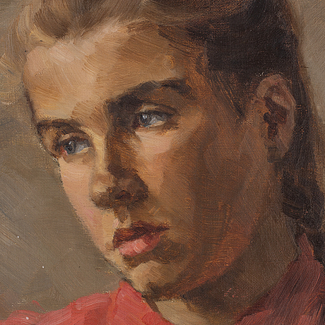Hilda sjöblom, oil on canvas, signed with monogram and dated -97.