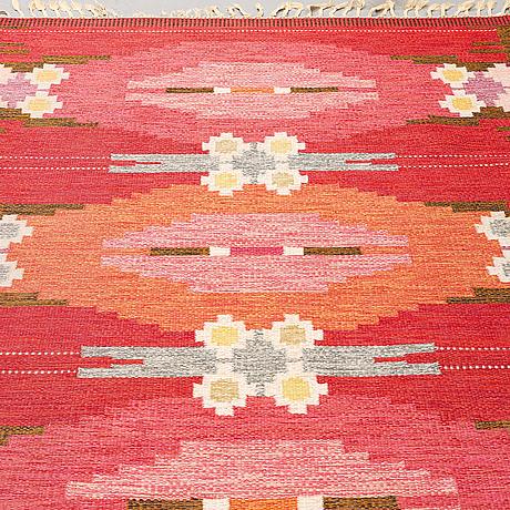 Ingegerd silow, a carpet, flat weave, ca 231 x 169 cm, signed is.