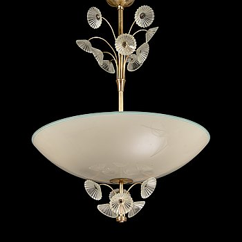 Lisa Johansson-Pape, A 1940's '1068'  chandelier for Stockmann Orno, Finland.