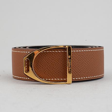 Hermès, a leather belt, 1995. size 85.