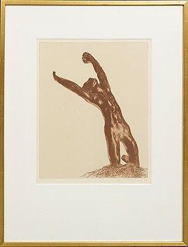 Ola Billgren, coloir lithograph, signed -79 EA.