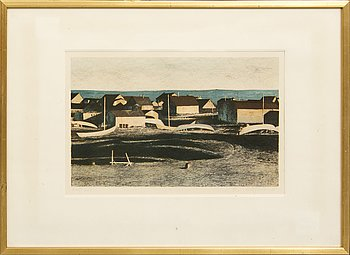 Ola Billgren, color lithograph, signed -68 260/260.