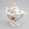 A large enameled porcelain tureen with cover, meissen, marcolinis period (1774-1814).