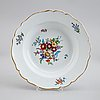 A group of 17 porcelain dishes. meissen, punktzeit (1756-1773) and marcolinis period (1774-1814).