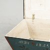 A painted chest, dated 1854.