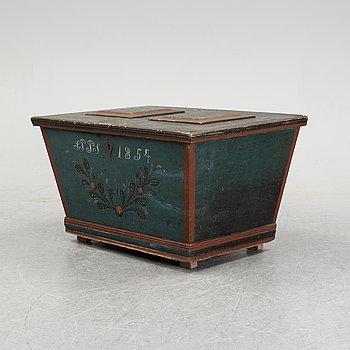 Kista, allmoge, Hälsingland, daterad 1854.