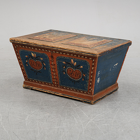 A painted chest dated 1810.