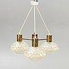 Orrefors, ceiling lamp, 1960s.