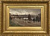 David farquharson, oil on canvas layed on panel signed.