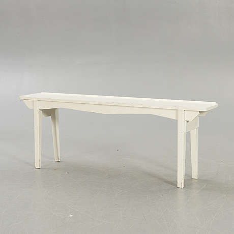 A painted wood bench first half of the 20th century.