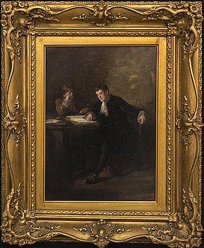 George Ogilvy Reid,  oi on canvas signed.