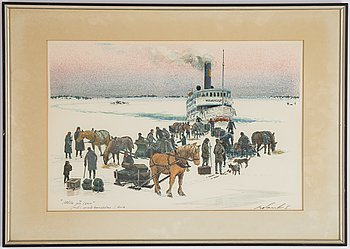 Roland Svensson, lithograph in colors, signed, PT.