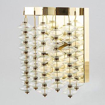 A brass and glass wall light, 'Estrella V-258' by Hans-Agne Jakobsson, Markaryd, 1960'-70's.
