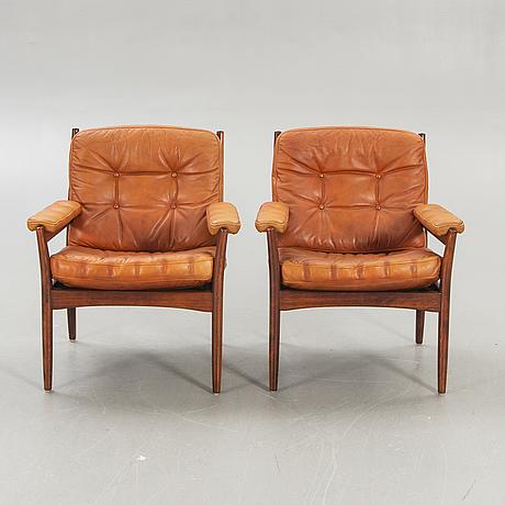 Armchairs, a pair, 1960s-70s, joc.