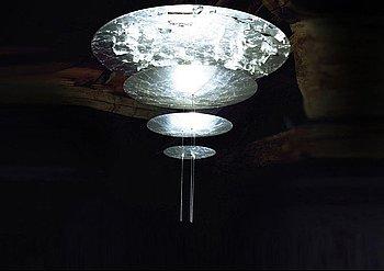 """Catellani & Smith celing lamp """"Macchina della luce"""" Italy 1990s."""