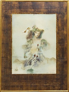 Mersad Berber, lithograph signed and numbered 40/60.