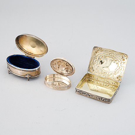 Skrin / dosor, 7 st, silver.