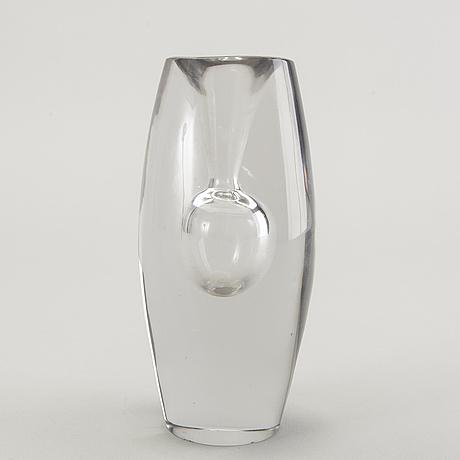 Tapio wirkkala, a signed glass vase iittala 55.