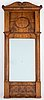 A mirror and console table, mid 19th century.