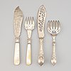Two pairs of silver cutlery, including thomas prime & son, 1892-93, and birmingham 1848.