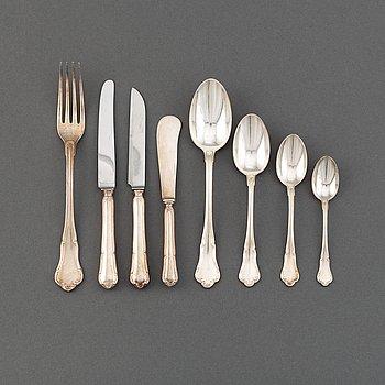 A 63 pcs silver cutlery set, including G.A. Dahlgren AB. Malmö, 1939.