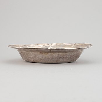 Washbasin, silver, South America, possibly 18th century.