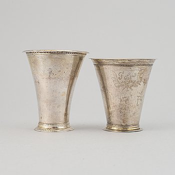 Two silver beakers, Petter Söderbom, Örebro, 1765 et al.