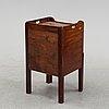 A mahogany bedside table, england, 19th century.