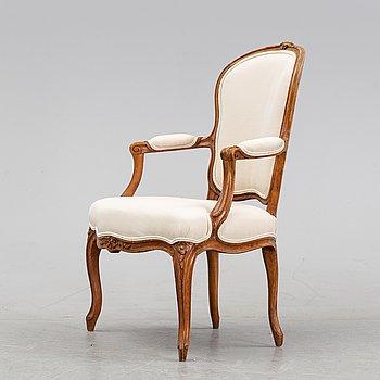A Louis XV armchair by Claud II Sené, master in Paris 1769-1783.