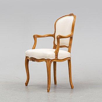 A rococo/Louis XV armchair, second half of the 18th century.