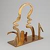 Arne tengblad, skulptur, mässing, signerad, daterad 81,