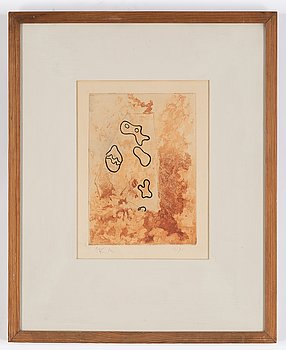Jean (Hans) Arp, etching in colours, signed and numbered 11/75.