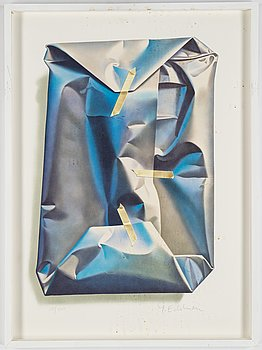 Yrjö Edelmann, lithograph in colours, 2001, signed 359/1500.
