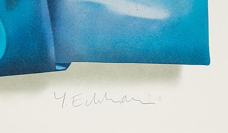 Yrjö edelmann, färglitografi, 2003, signerad 359/1500.