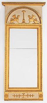 A late Gustavian mirror, 19th Century.
