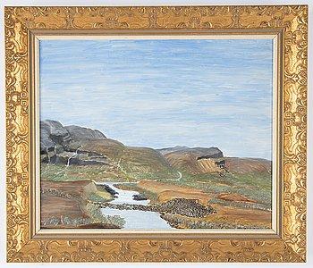Nils Nilsson Skum, oil on masonite, signed N.N. Skum.