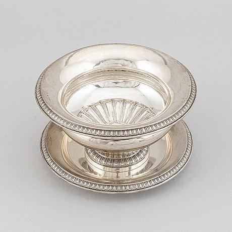 Såsskål, silver, gab, stockholm, 1884.