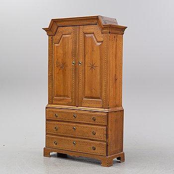 A 18th Century oak cabinet.
