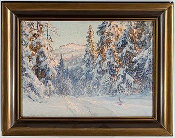 Anshelm Schultzberg, oil on canvas, signed.