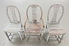 A set of three different chairs  19th century.