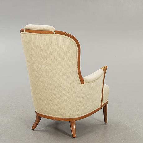 Carl malmsten, a vår fru mahogany armchair later part of the 20th century.