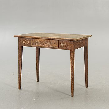 A Swedish painted table dated 1861.