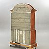 A painted swedish rococo cupboard mid 1700s.