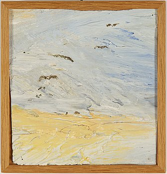 Evert Lundquist, oil on board, signed verso.