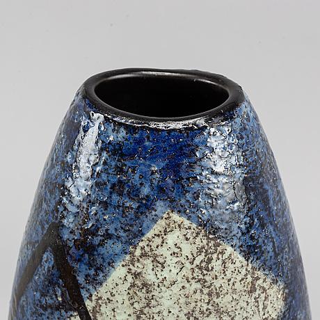 A stoneware floor vase by ingrid atterberg, upsala-ekeby.
